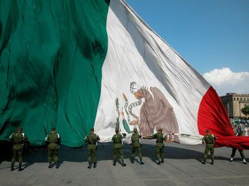 Monumental flags all over Mexico, these flags are 25 meters (82 feet) wide by 14 mts (46 feet) tall. We also have a pair of huge 50 mts wide by 28.6 mts tall flags 2016 г...jpg