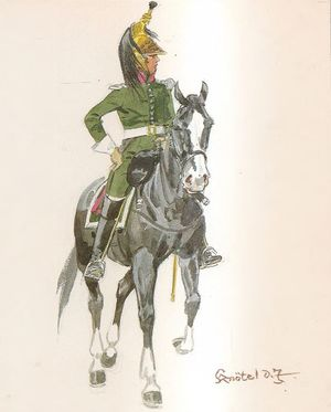 13th Dragoon Regiment, Officer, Field Uniform, 1812.jpg