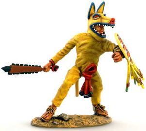 Aztec Coyote Defending with Macuahuitl.jpg